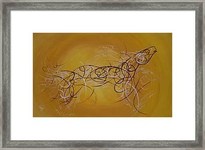 Horse Moving Lines Framed Print by Ali ArtDesign