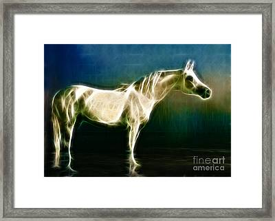 Horse Of Light Framed Print by Jo Collins