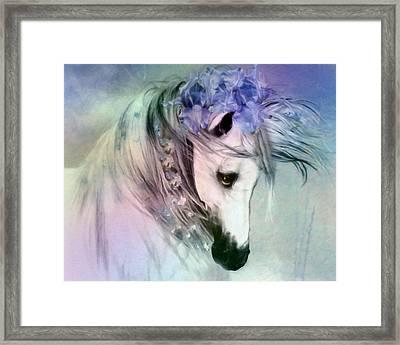 Horse Of Love Framed Print by Georgiana Romanovna