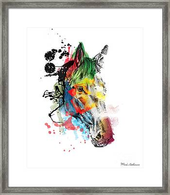 Horse On Abstract  2 Framed Print