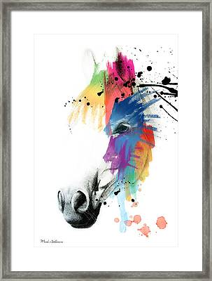 Horse On Abstract   Framed Print
