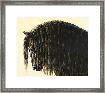 Horse Painting - Friesland Nobility Framed Print
