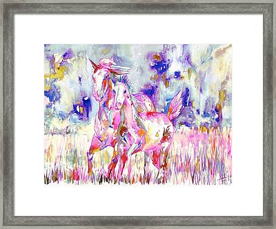 Horse Painting.16 Framed Print by Fabrizio Cassetta