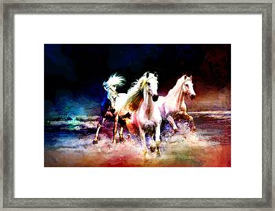 Horse Paintings 002 Framed Print