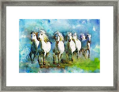 Horse Paintings 005 Framed Print