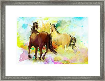 Horse Paintings 009 Framed Print by Catf