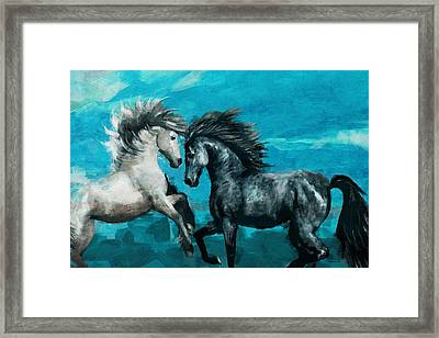 Horse Paintings 011 Framed Print by Catf