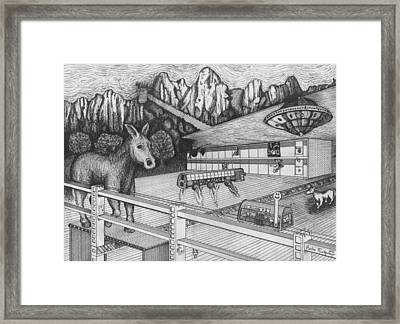 Horse Perspective Framed Print by Richie Montgomery