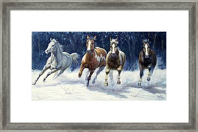 Horse Power Framed Print by Gregory Perillo