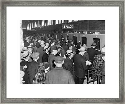 Horse Race Betting Framed Print