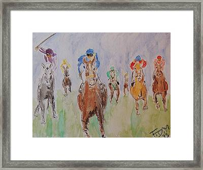 Horse Race Framed Print