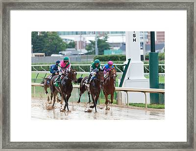 Horse Races At Churchill Downs Framed Print