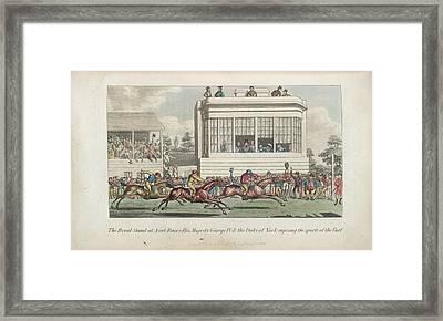 Horse Racing At Ascot Framed Print by British Library