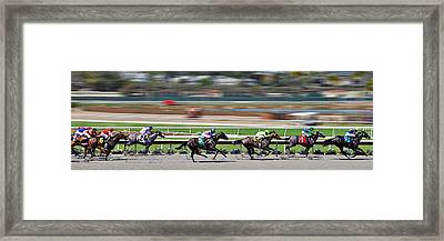 Horse Racing Framed Print by Christine Till