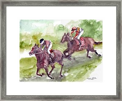 Horse Racing Framed Print by Faruk Koksal
