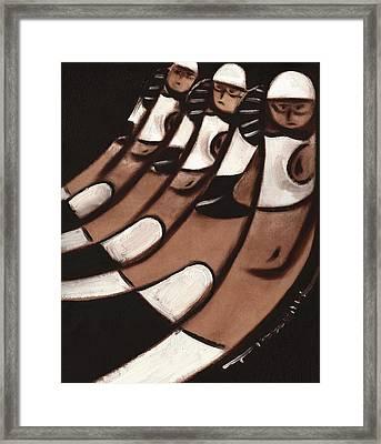 Abstract Quarter Horses Art Print Framed Print by Tommervik