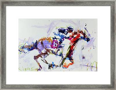 Horse Racing Print Framed Print
