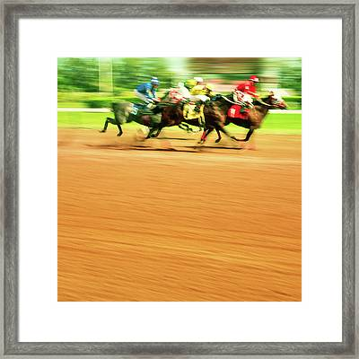 Horse Racing Framed Print by Thepalmer