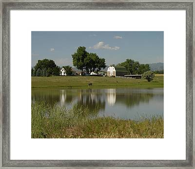 Horse Ranch Framed Print by Stephen Schaps