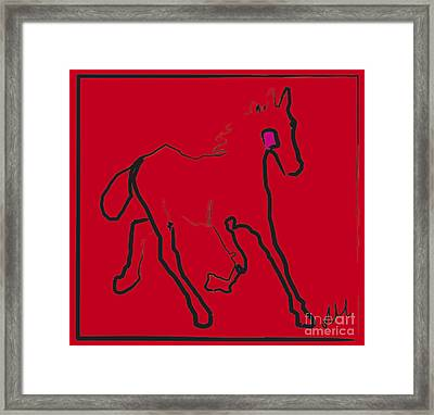 horse - Red filly Framed Print
