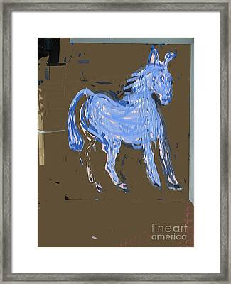 Horse Revisited Framed Print by Jay Manne-Crusoe