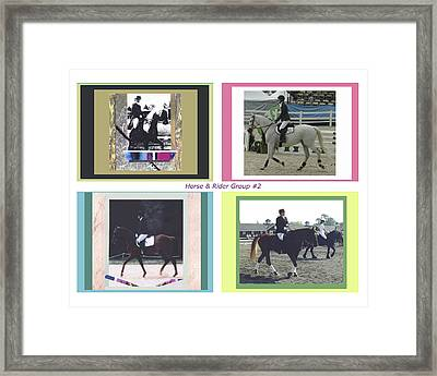 Horse Rider Group 2 Framed Print