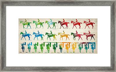 Horse Rider Locomotion Framed Print by Aged Pixel