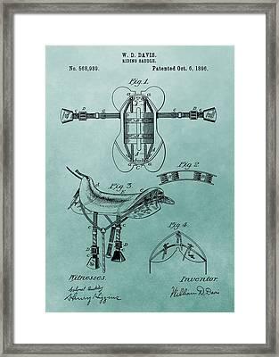 Horse Saddle Patent Canvas Framed Print