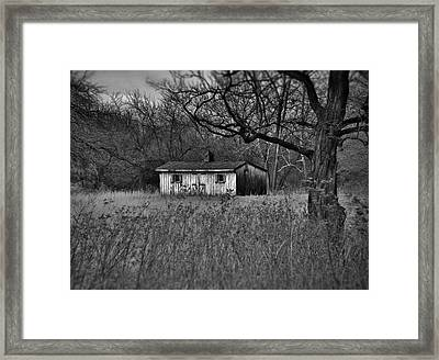 Horse Shed Framed Print by Robert Geary