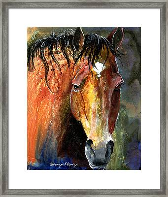 Horse Framed Print by Sherry Shipley
