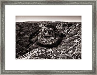 Horse Shoe Bend Framed Print by Juan Carlos Diaz Parra