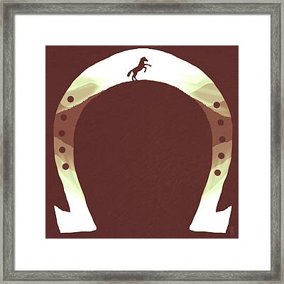 Horse Shoe Framed Print by Daniel Hapi