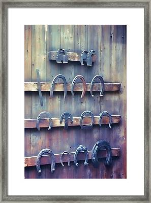 Horse Shoes Framed Print