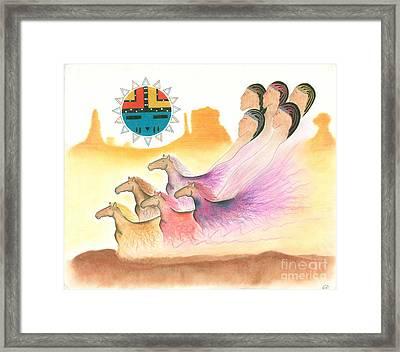 Horse Spirits Framed Print by Peace Monger