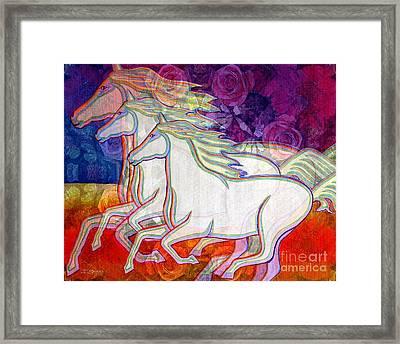 Horse Spirits Running Framed Print