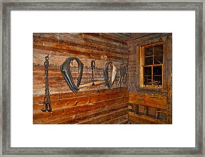 Horse Stable Framed Print by Frozen in Time Fine Art Photography