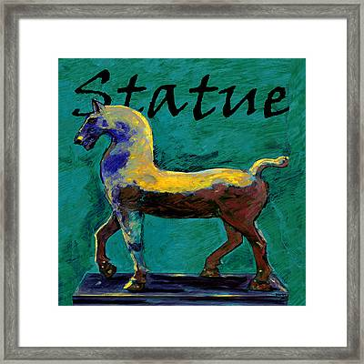 Horse Statue Framed Print