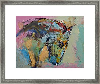 Horse Study Framed Print by Michael Creese