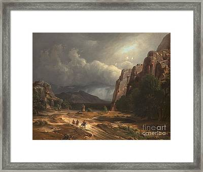 Horse Thief Framed Print by Celestial Images