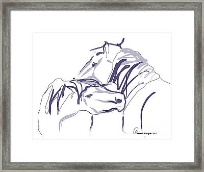 Horse - Together 10 Framed Print by Go Van Kampen