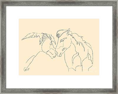 Horse - Together 3 Framed Print