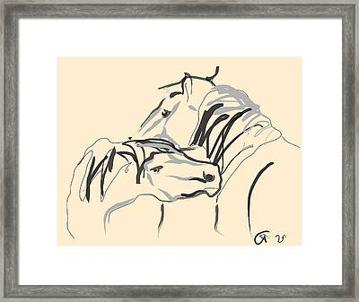 Horse - Together 4 Framed Print by Go Van Kampen