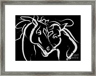 Horse- Together 5 Framed Print