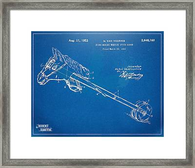 Horse Toy Patent Artwork 1953 Framed Print by Nikki Marie Smith