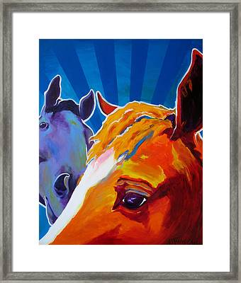 Horse - We Come In Peace Framed Print by Alicia VanNoy Call