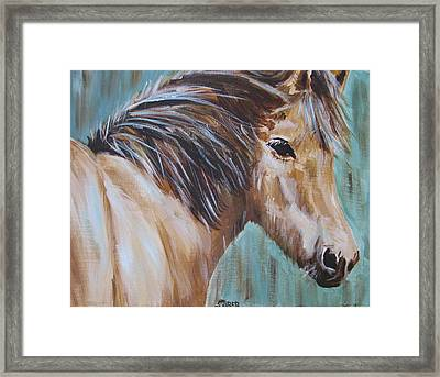Horse Whisper Framed Print