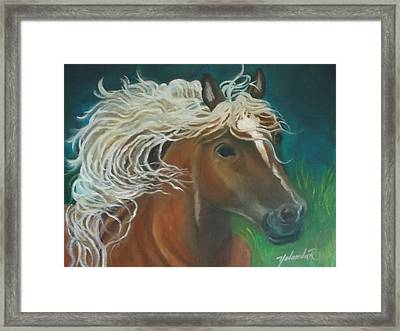 Framed Print featuring the painting Horse by Yolanda Rodriguez