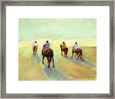 Horseback Riders Framed Print
