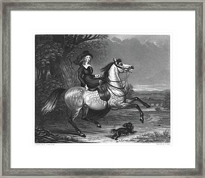 Horseback Riding, 1842 Framed Print by Granger