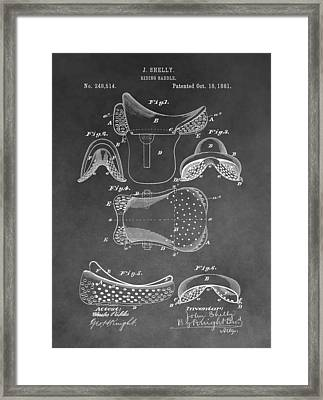 Horseback Saddle Patent Framed Print